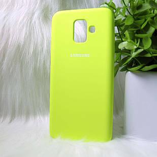 Чехол Samsung A600 A6 2018 желтый