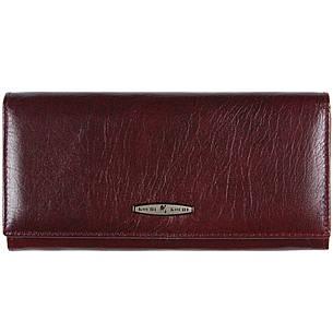 Женский кожаный кошелёк KOCHI застёжка кнопка 185х90х30 вишнёвый  м К-В124виш, фото 2