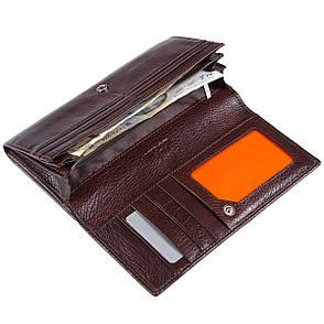 Женский кожаный кошелёк KOCHI коричневый 185х90х30 застёжка кнопка  м К-В124кор, фото 2