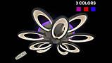Люстра светодиодная 1673/6+3 white/black 145w диммируемая c led подсветкой, фото 9