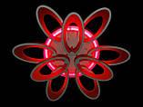 Люстра светодиодная 1673/6+3 white/black 145w диммируемая c led подсветкой, фото 6