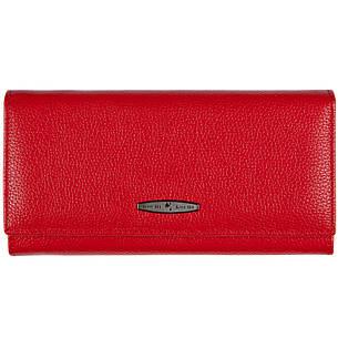 Кожаный женский кошелёк KOCHI красный 185х90х30 застёжка кнопка  м К-В124кр, фото 2