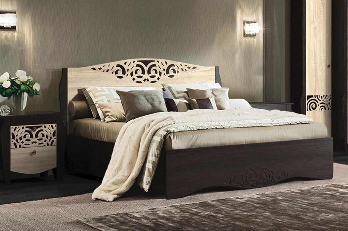 Ліжко МастерКлас МЛ-241 Гефест венге+дуб сонома