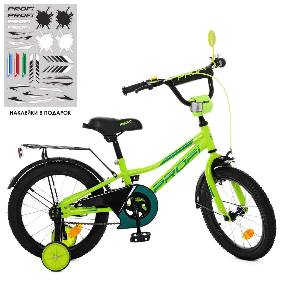 Велосипед детский двухколесный PROFI Y16225 Prime 16 дюймов салатовый **