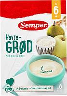 Каша молочная овсяная с яблоком и грушей (250 г) 6+ Semper