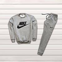 Мужской серый спортивный костюм Nike топ   Track & Field