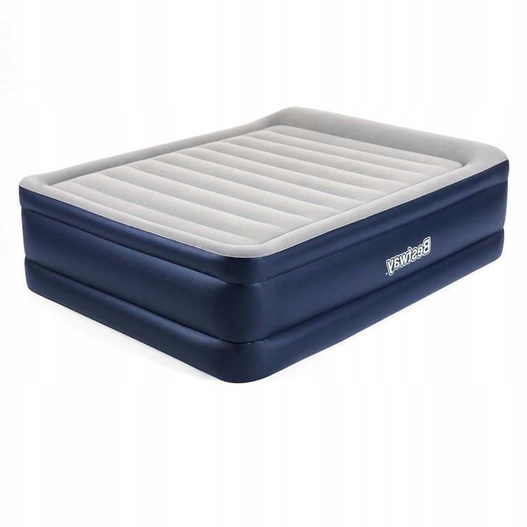 Надувна велюр ліжко 67690 Bestway 203-152-61см, з вбудованим електронасосом