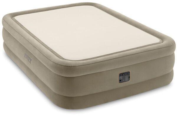 Надувна велюрова ліжко Intex 64478, 152 х 203 х 51, з вбудованим електричним насосом