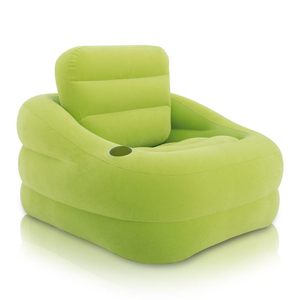 "Надувное кресло Intex 68586 ""ACCENT CHAIR - лайм"" 97х107х71 см"