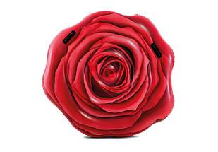 Надувний матрац Intex 58783 Червона троянда, 137 х 132 см, фото 2