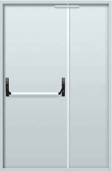 """Двостулкові протипожежні двері EI 30 2050х1200 + замок антипаніка серії """"Щит 3"""""""