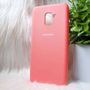 Силіконовий чохол Original Silicone Case Samsung A730/A8+ 2019 Pink (рожевий)