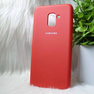 Силіконовий чохол Original Silicone Case Samsung A730/A8+ 2019 Red (червоний)