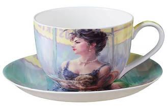 Набор чайный подарочный (чашка + блюдце) LEFARD Дама с Собачкой