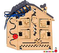 Заготовка Для Бизиборда Многофункциональный Деревянный Домик 6в1 с окошками Будиночок для Бізіборда