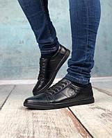 Стильная мужская Обувь leather Emblem Black