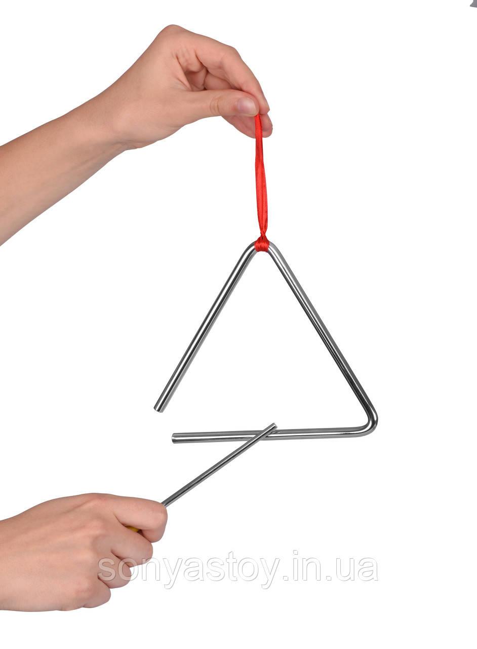 Музыкальный инструмент - Треугольник для детей (маленький), 2+