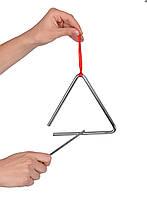 Музыкальный инструмент - Треугольник для детей (маленький), 2+, фото 1