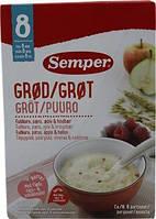 Каша мультизлаковая молочная  с грушей, яблоком и малиной (250 г) 8+ Semper