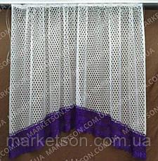 Тюль арка для кухні з бахромою, фото 3