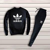 Мужской черный спортивный костюм Adidas   адидас лого, фото 1