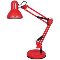 Настольная лампа на подставке для учебы красная