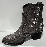 Казаки демисезонные на удобном каблуке из натуральной кожи от производителя модель КС9090-3, фото 2