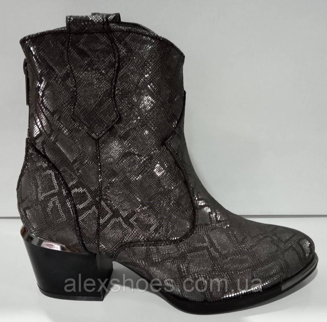 Казаки демисезонные на удобном каблуке из натуральной кожи от производителя модель КС9090-3