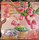 Подарочный бумажный пакет КВАДРАТ 24*24*10 см Кексы, фото 3