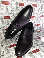 DEVAL фирменные кожаные мужские туфли на резинке без шнурков