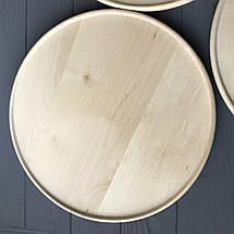 Тарелка-поднос деревянная с вертикальными бортиками диаметром 29 см, фото 2