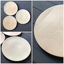 Тарелка-поднос деревянная без бортиков 25 см