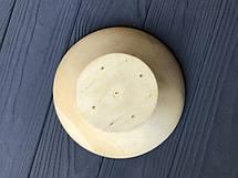 Широкая деревянная тарелка-пиала средней глубины с плавным переходом 15 см, фото 3
