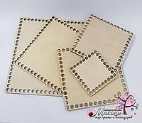Квадратное донышко для вязанных корзин, 18 см