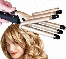 Плойка 5 волн для волос Gemei GM 2933, щипцы для завивки волос, плойка для локонов