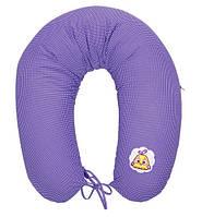 Подушка для кормления и поддержки ребенка 170х30 Горох фиолетовый Цыпленок Econom Ideia