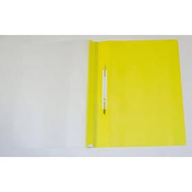 Скоросшиватель пластик. А4 желтый без перфорации L3646-10