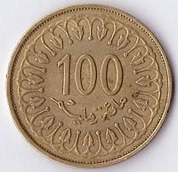 Монета Туниса 100 миллим 2013г