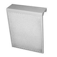 Экран на чугунную батарею 4 секции металлический / декоративная решетка на радиатор 385 мм
