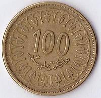 Монета Туниса 100 миллим 1997г