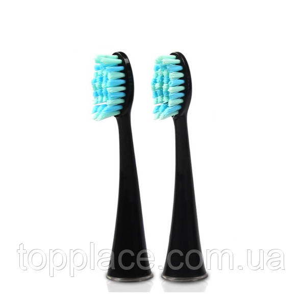 Насадки електричної зубної щітки Seago SG861, 2шт, Black