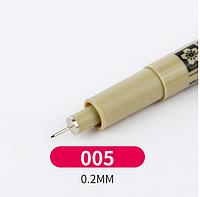 Лайнер Micron Pigma 0,05мм, цвет чёрный.