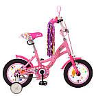 Велосипед дитячий двоколісний PROFI Y1221 Bloom 12 дюймів рожевий, фото 2