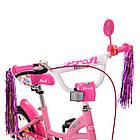 Велосипед дитячий двоколісний PROFI Y1221 Bloom 12 дюймів рожевий, фото 4