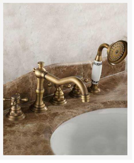 Смеситель для ванны на борт ванны врезной латунный 0169