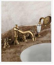 Змішувач для ванни на борт ванни врізний латунний 0169
