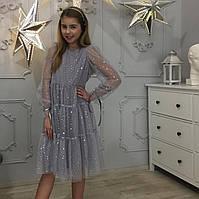 Нарядное фатиновое платье для девочки 116-158 р