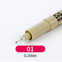 Лайнер Micron Pigma 0,1мм, цвет чёрный.
