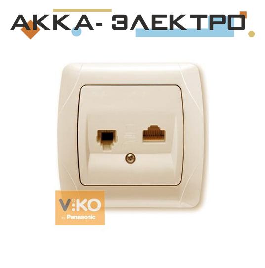 Розетка TF + RJ45 крем ViKO Carmen 90562035