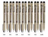 Лайнер Micron Pigma 0,2 мм, колір чорний., фото 3